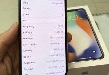 Bán iphone X cũ mới dùng 2 tháng