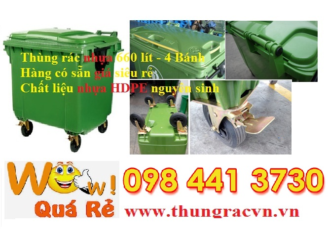 Bán thùng rác 240 lít 660 lít giá rẻ toàn quốc